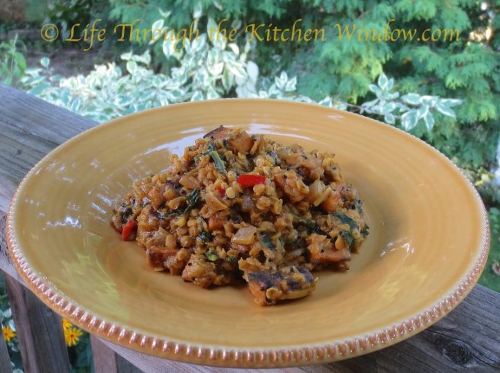 Red Lentil Coconut Dhal with Sweet Potato & Kale │ © Life Through the Kitchen Window.com