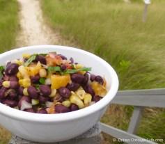 Black Bean, Corn & Peach Salad   © UrbanCottageLife.com