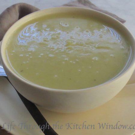 Creamy Leek & Potato Soup | © Life Through the Kitchen Window.com