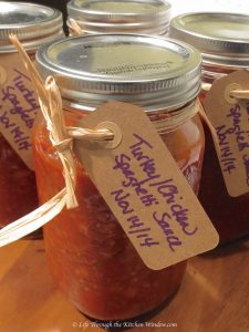 Spaghetti Sauce Ready for Sharing & Freezing | © Life Through the Kitchen Window.com
