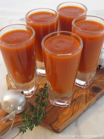 Roasted Red Pepper & Tomato Soup   © Life Through the Kitchen Window.com