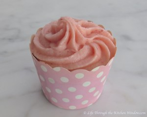 Strawberry Chocolate Cupcake with Strawberry Buttercream | © Life Through the Kitchen Window.com