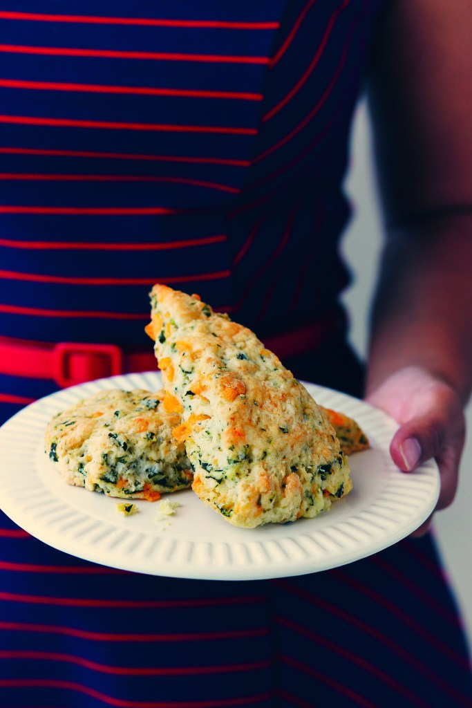 Messy Baker Basil Cheddar Scones - photo reprinted with permission
