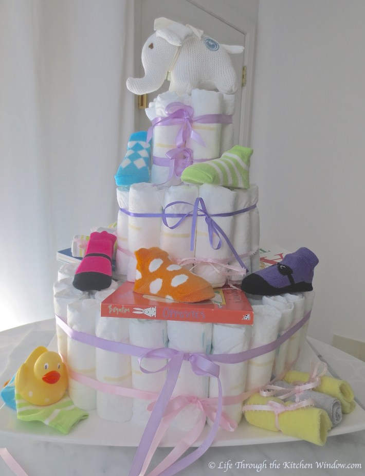 A Special Cake for A Baby Shower | © Life Through the Kitchen Window.com