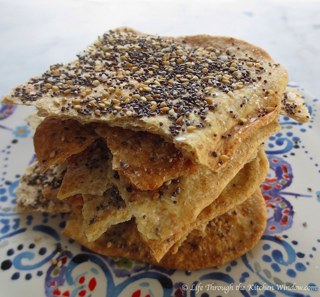 Seedy Lavash Crackers │ © Life Through the Kitchen Window.com