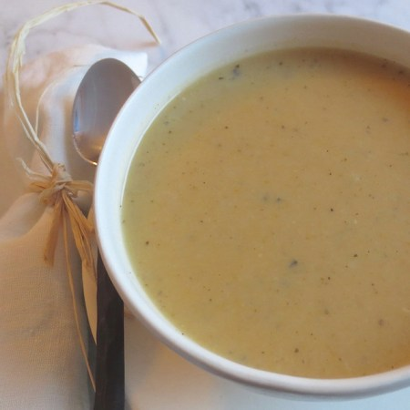 Creamy Parsnip & Sweet Potato Soup │ © Life Through the Kitchen Window.com