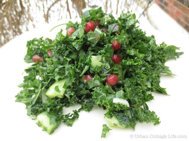 Parsley & Kale Salad with Pomegranate | © Urban Cottage Life.com