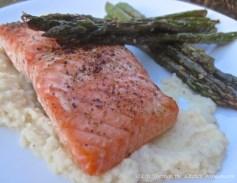 Lemon Honey Salmon on Celeriac Puree | © Life Through the Kitchen Window.com