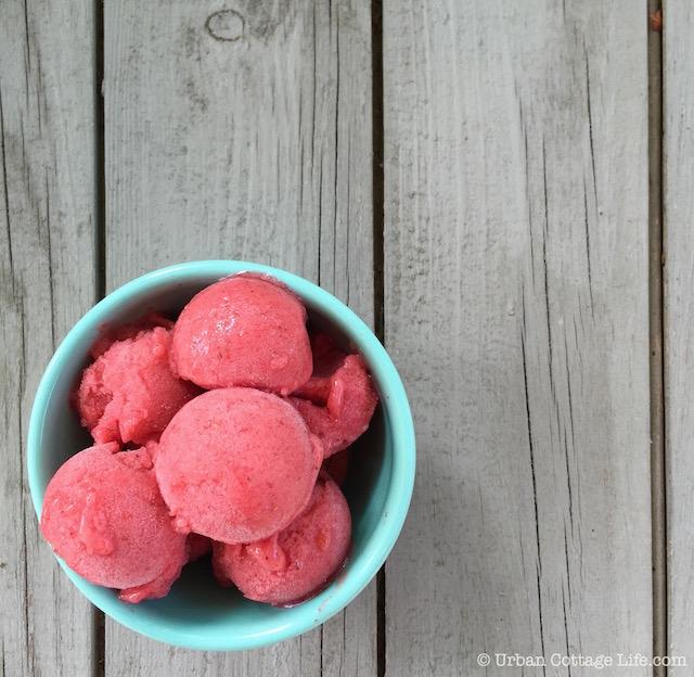 Strawberry Mint Nice Cream   © Urban Cottage Life.com
