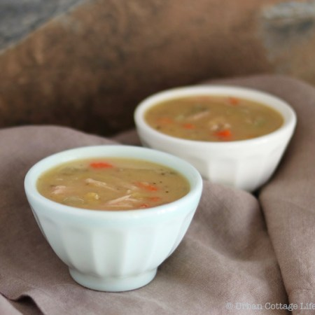 Yellow Split Pea Soup with Smoked Pork |© UrbanCottageLife.com