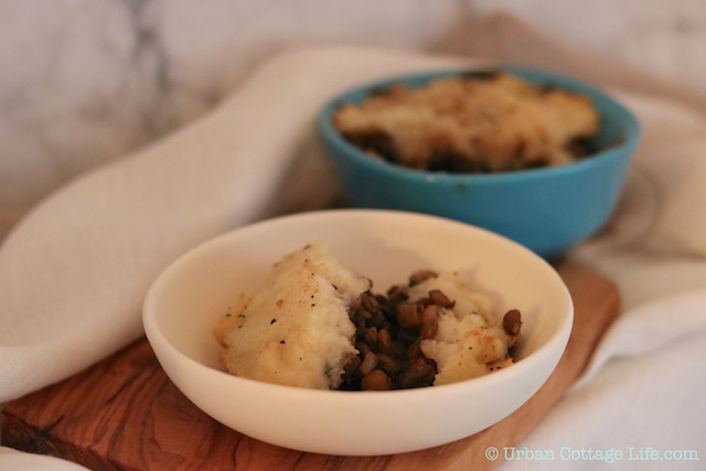 Lentil Mushroom Shepherd's Pie with Celeriac Mash |© Urban Cottage Life.com