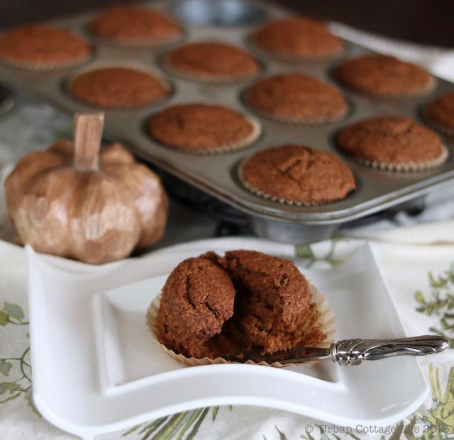 Pumpkin Oat Muffins   © UrbanCottageLife.com