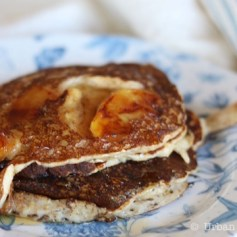 Caramelized Apple Sour Cream Pancakes | © UrbanCottageLife.com 2016