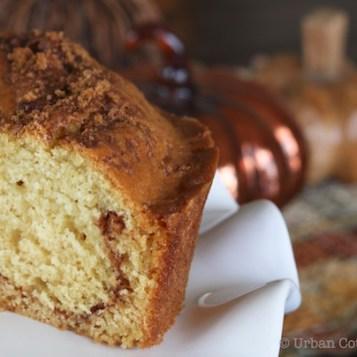 Cinnamon Loaf Coffee Cake | © UrbanCottageLIfe.com 2016