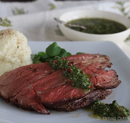 Prime Rib with Piquant Herb Sauce | UrbanCottageLIfe.com 2016