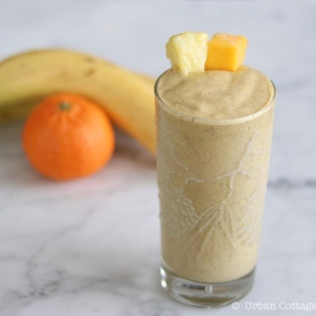 Tropical Sunrise Smoothie | © UrbanCottageLife.com