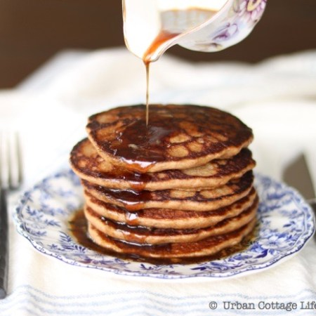 Porter Pancakes with Maple Beer Butter Sauce |© UrbanCottageLIfe.com