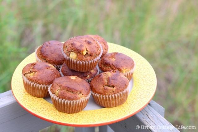 Peach Bran Muffins │ © UrbanCottageLife.com