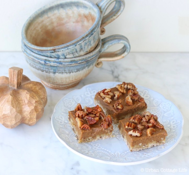 Maple Pecan Pumpkin Bars ❘ © UrbanCottageLife.com