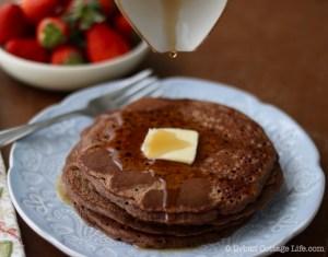 Chocolate Buckwheat Pancakes ❘ © UrbanCottageLife.com