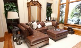 Urban Jeanine Leather 120″ Sectional
