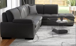 Urban Jerald Leather 123″ Sectional