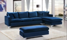 Urban Aded 110″ Wide Velvet Reversible Sofa & Chaise by Urban Couch