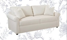 """Urban Nashville 82"""" Cotton Rolled Arm Sofa with Reversible Cushions"""