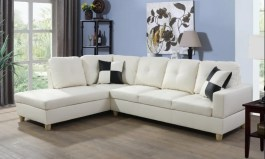 Palko 103.5″ Wide Faux Leather Corner Sectional By Urban Couch