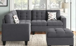 Urban Pawnee 84″ Wide Left Hand Facing Corner Sectional with Ottoman