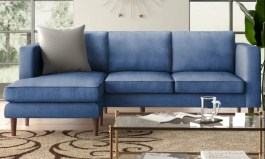 Urban Aaron 88.98″ Wide Reversible Sofa & Chaise by Urban Couch
