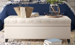 """Urban Rolf 50"""" Wide Tufted Rectangle Storage Ottoman with Storage"""