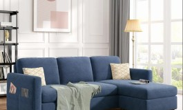 Urban L Shape Reversible Sectional Sofa With Handy Side Pocket by Urban Couch