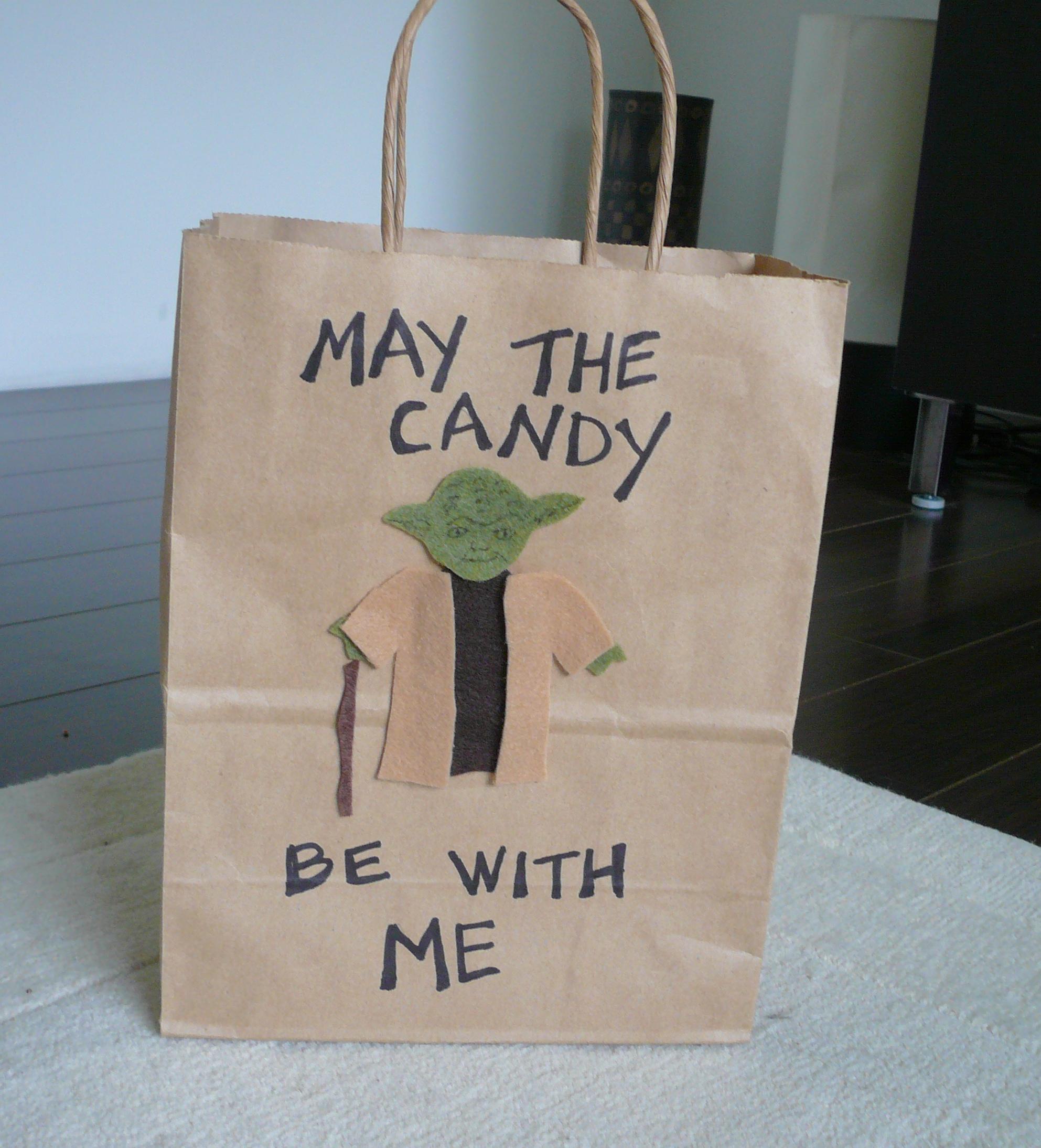 yoda trick or treat bag