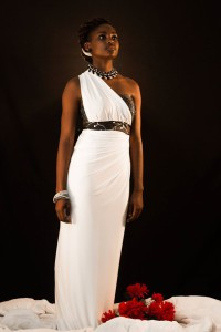 Nobuhle Nkala on a Annie G Evenning Gown