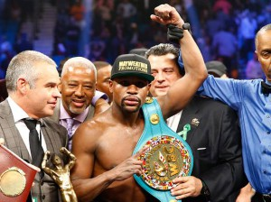 Floyd Mayweather, Jr. of the U.S.