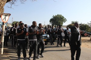 Bosso Players being led by Enerst Maphepha Sibanda In Song...