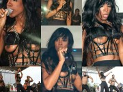 Kelly Rowland was wearing this raunchy top when she suffered a Wardrobe Malfunction.