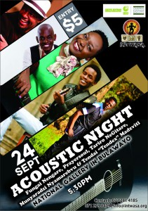 Acoustic Night will be a Intwasa Arts Festival KoBulawayo event