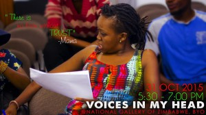 Amanda Dube on rehersal :Voices in my head