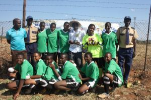 Magwegwe High School Soccer Team (Pictures by James Sithole)