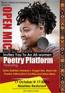 All Women Open Mic Poetry Slam