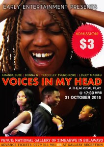 Donna N stars on Voices in My head whicvh premiers on Sartuday 31 October