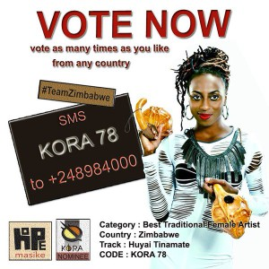 Vote for @HopeMasike here SMS KORA 78 to +248984000 #Hope4Kora #KORA2016
