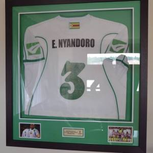 E.Nyandoro his Zimbabwean kit