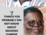 7 Things you Probably Did Not Know About Ndumiso Gumede