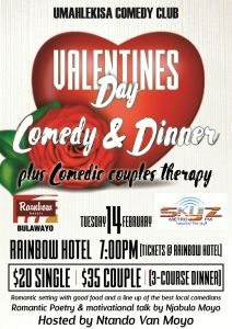Valentines Day Comedy and Dinner