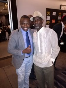 Madlela with Actor Ernest Ndlovu from Isibaya