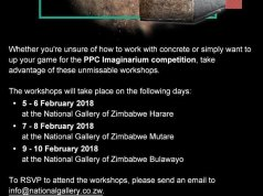 PPC Imaginarium Workshop Dates Out : Bulawayo 9-10 February -2018