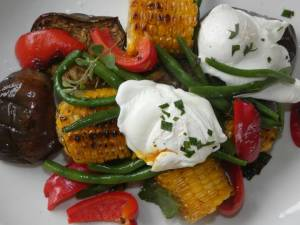 Flame grilled mixed vegetables